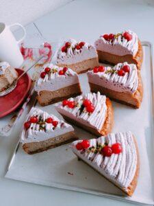 マロンチーズケーキカシスモンブラン